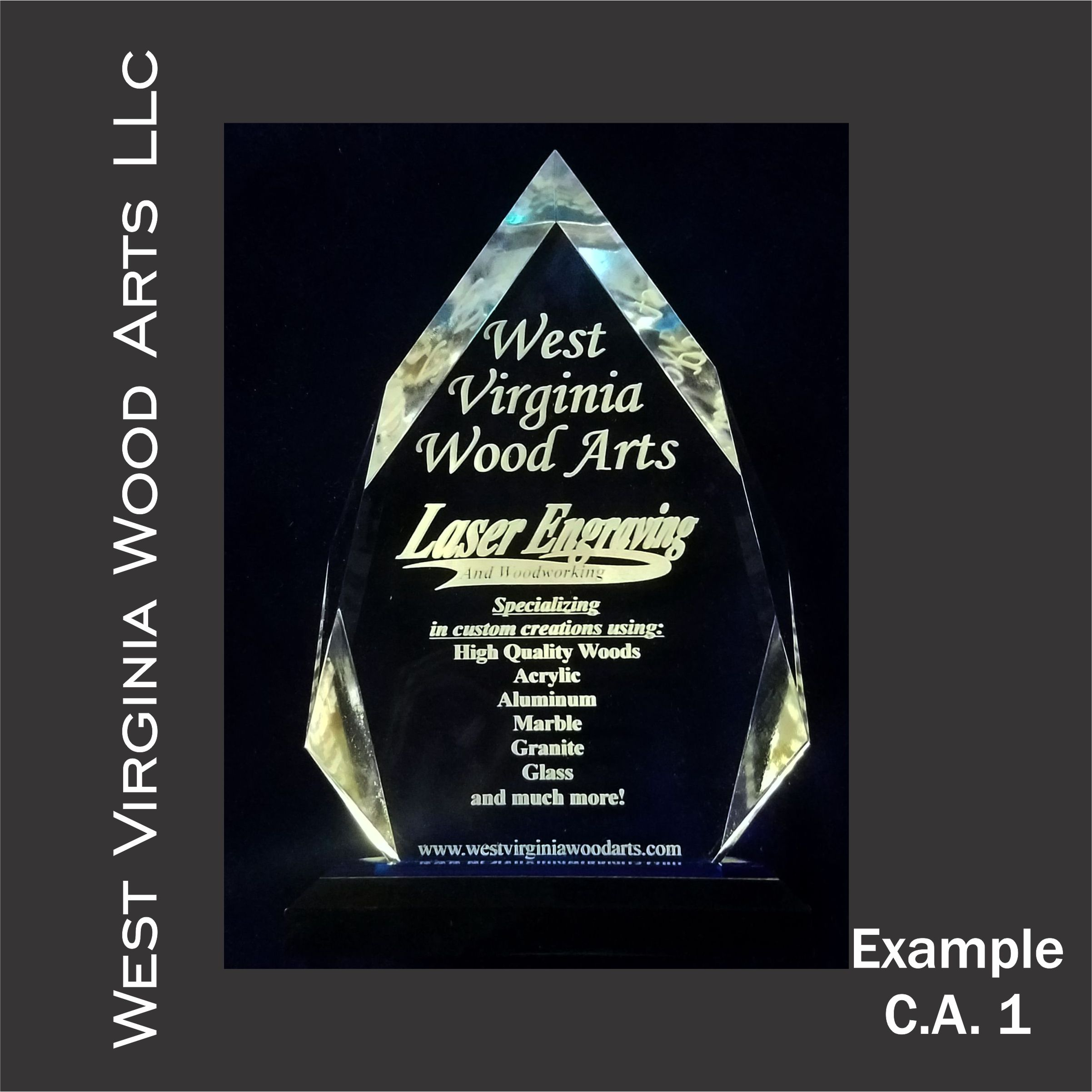 predesigned custom engraved award main link example