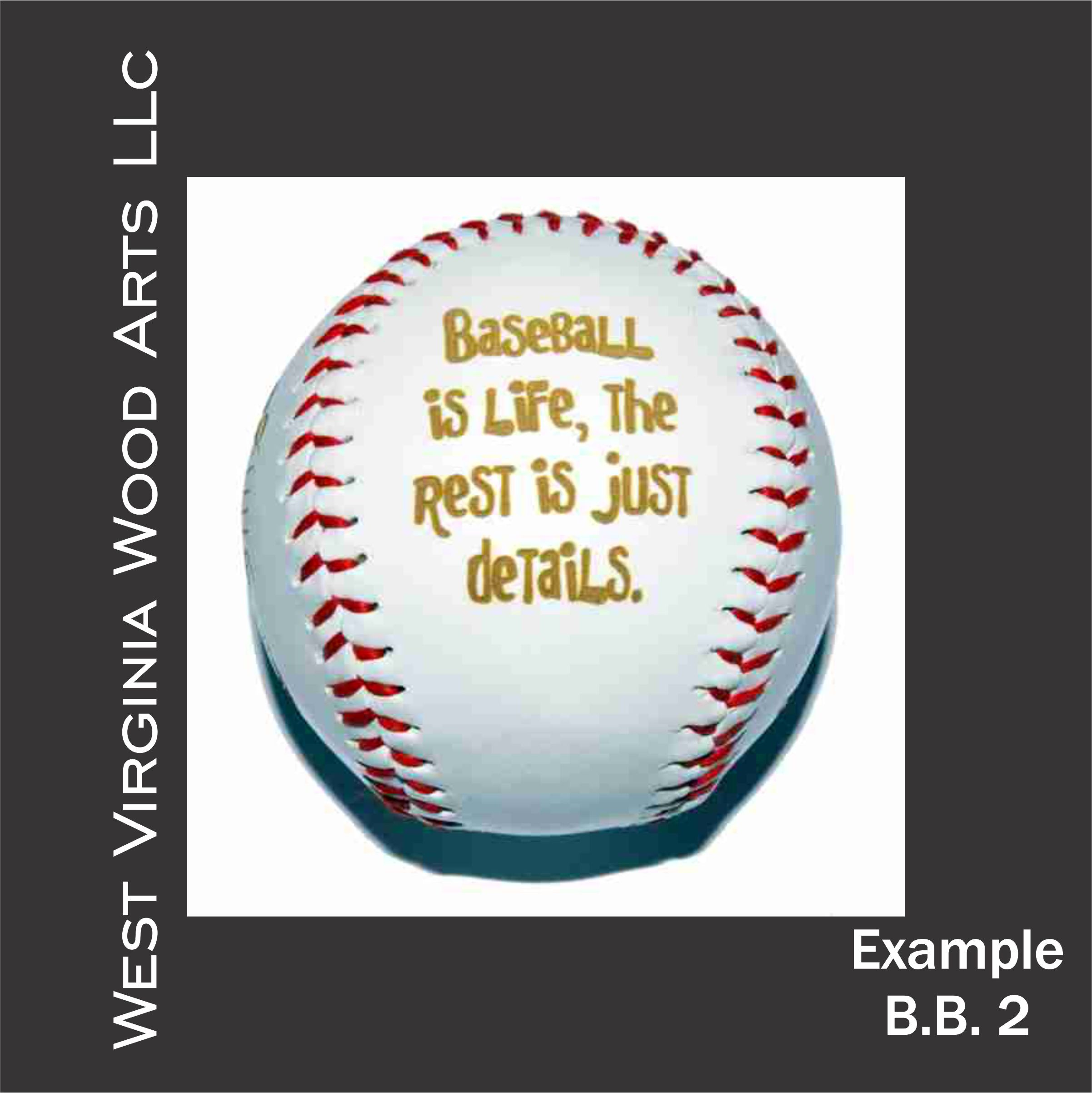 personalized baseball with wording main link example