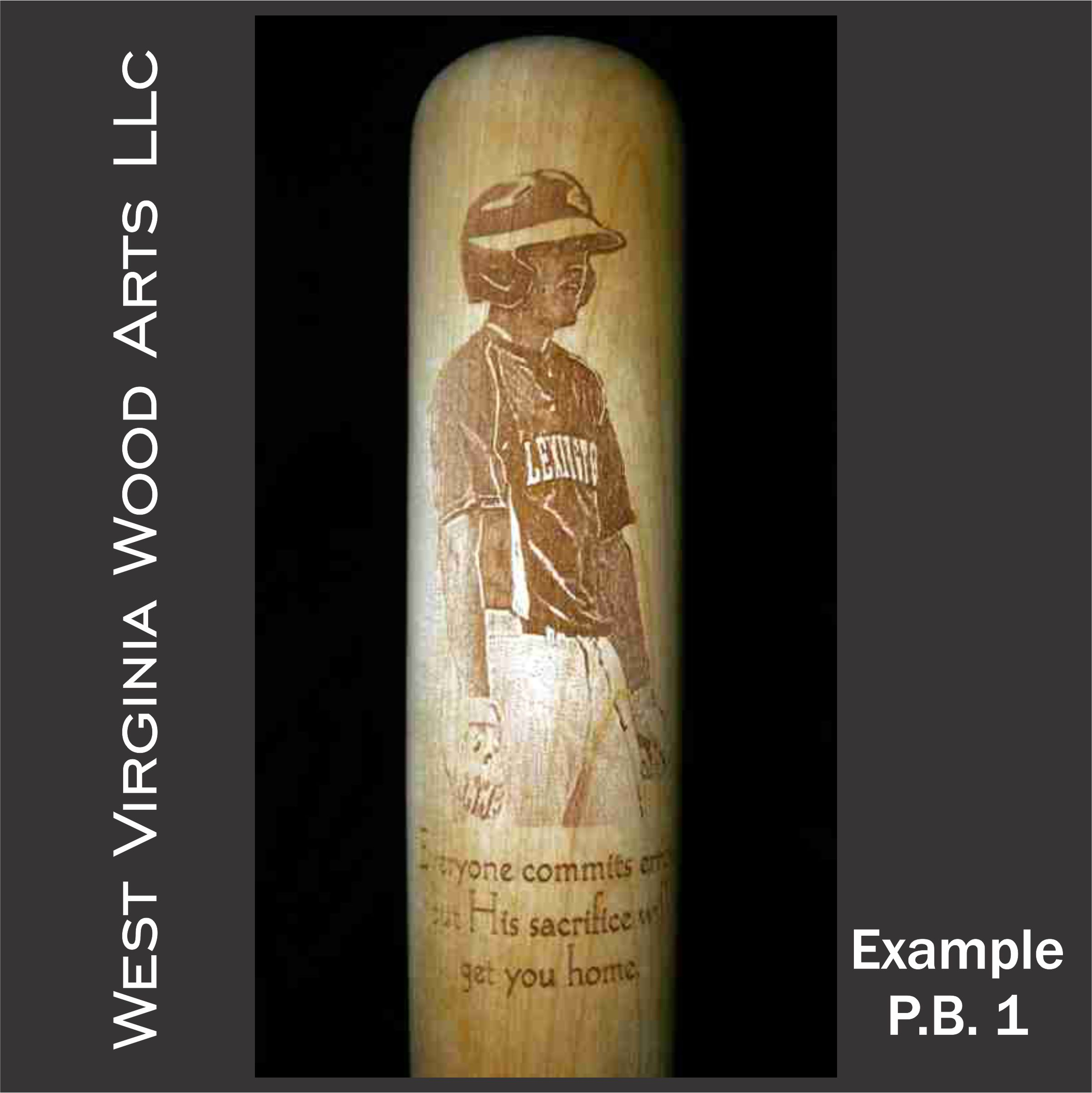 full size photo engraved baseball bat with player image main link image