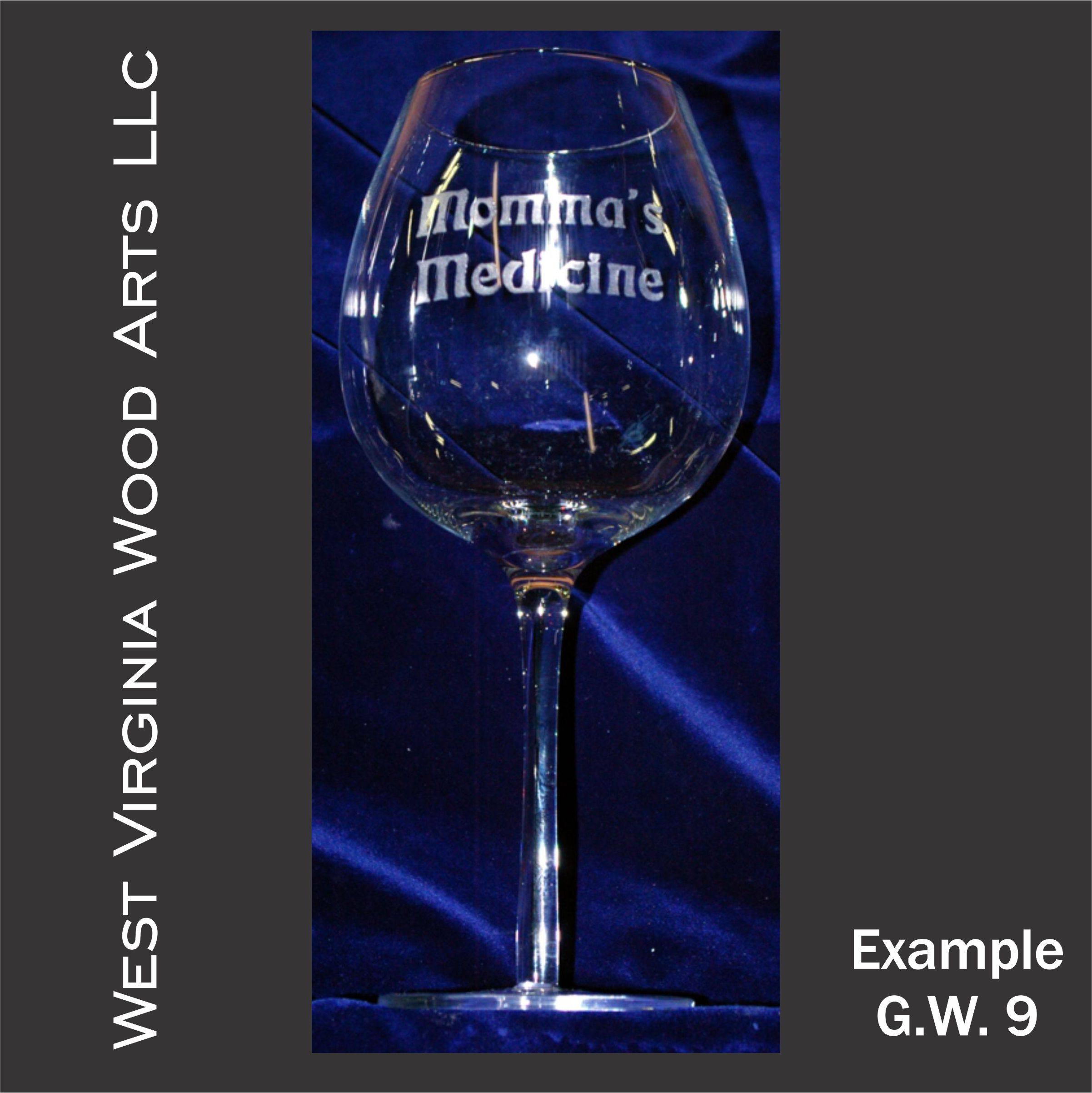 personalized glassware with wording only main link example