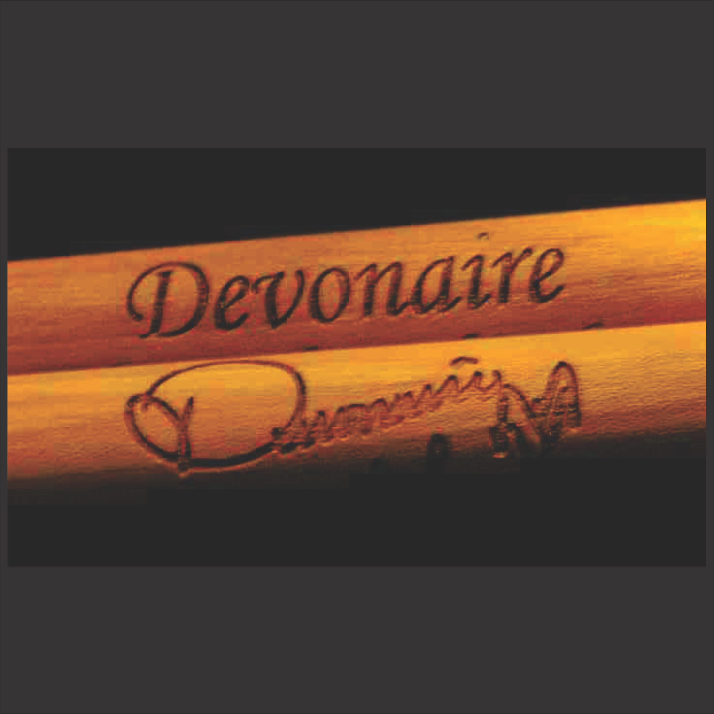 personalized drumstick set with drummer signature engraved