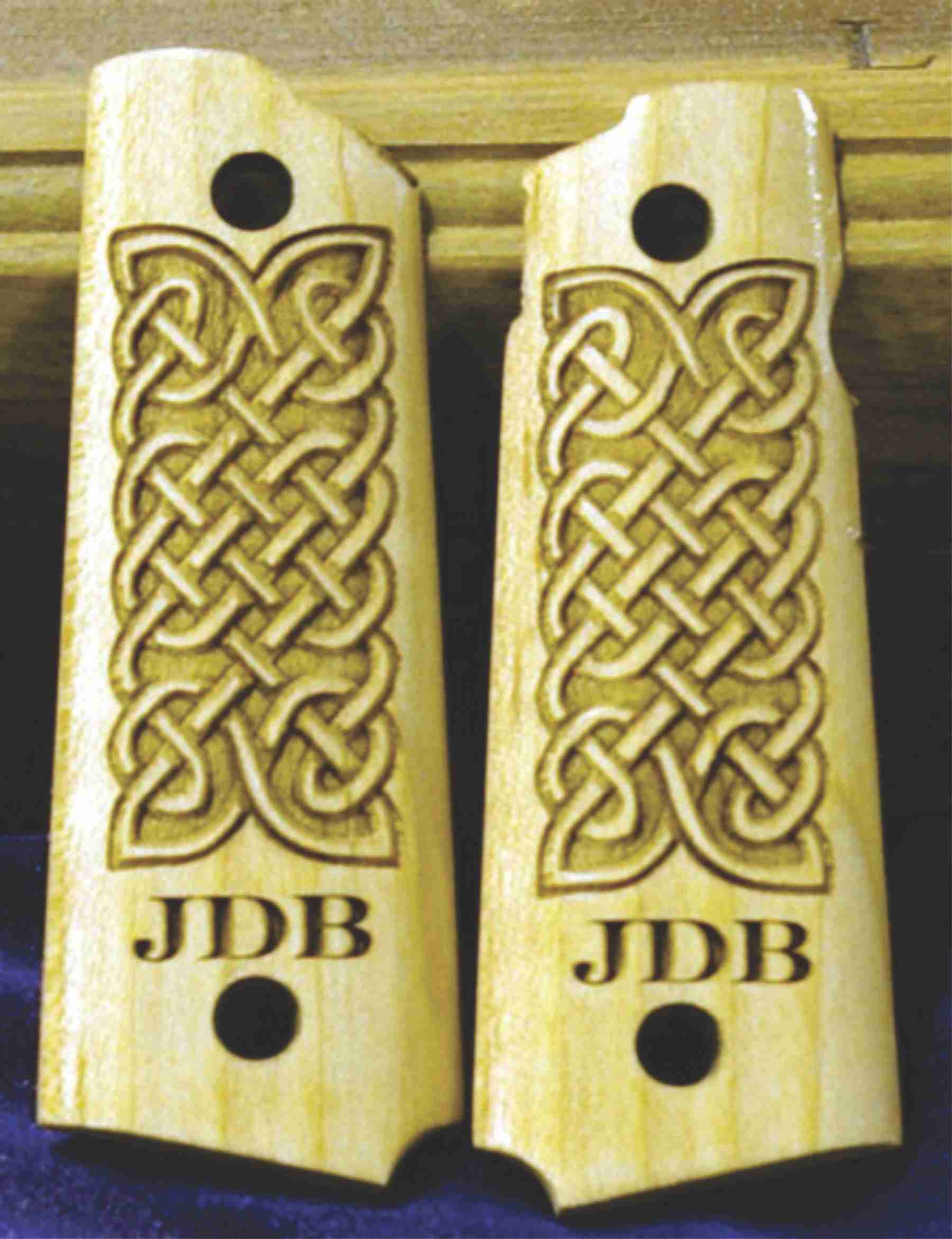 Celtic Knot Engraved Grips For Taurus