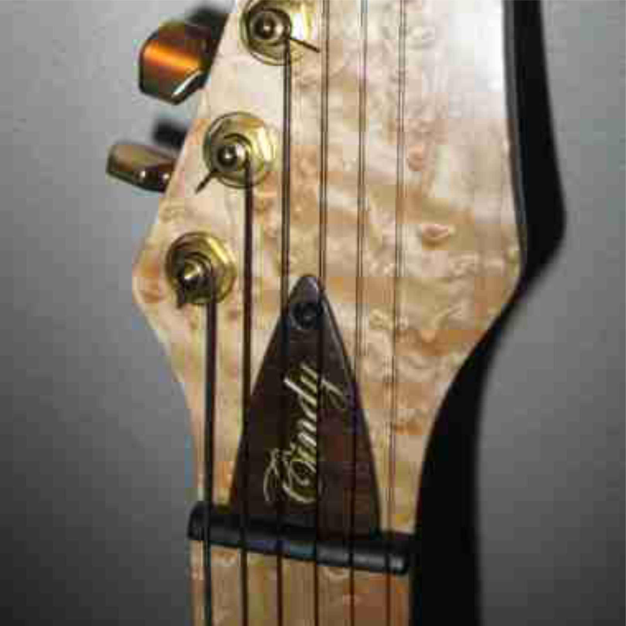 Walnut Truss Rod Cover With Gold Fill On Carving Custom