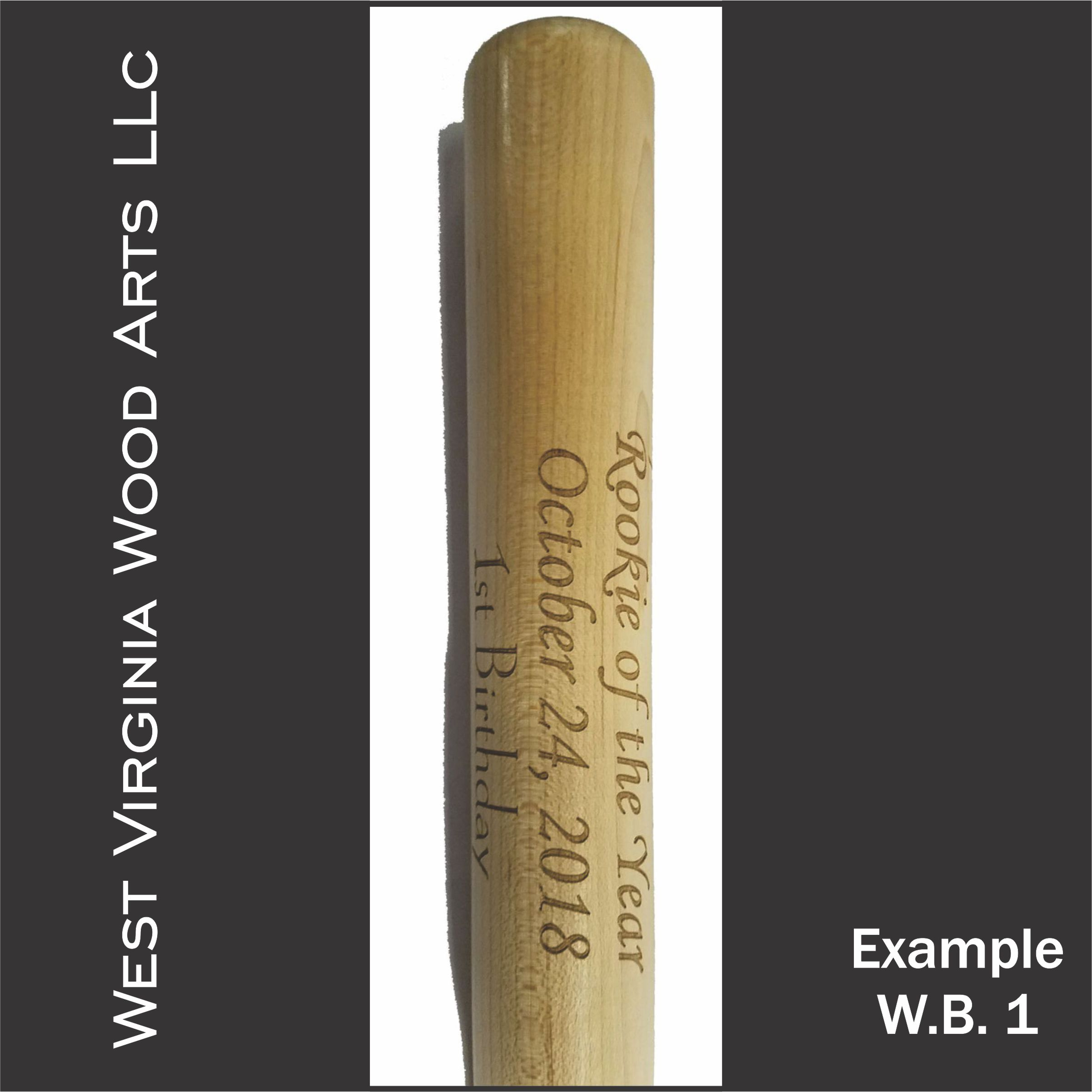 personalized mini baseball bat with wording only main link example