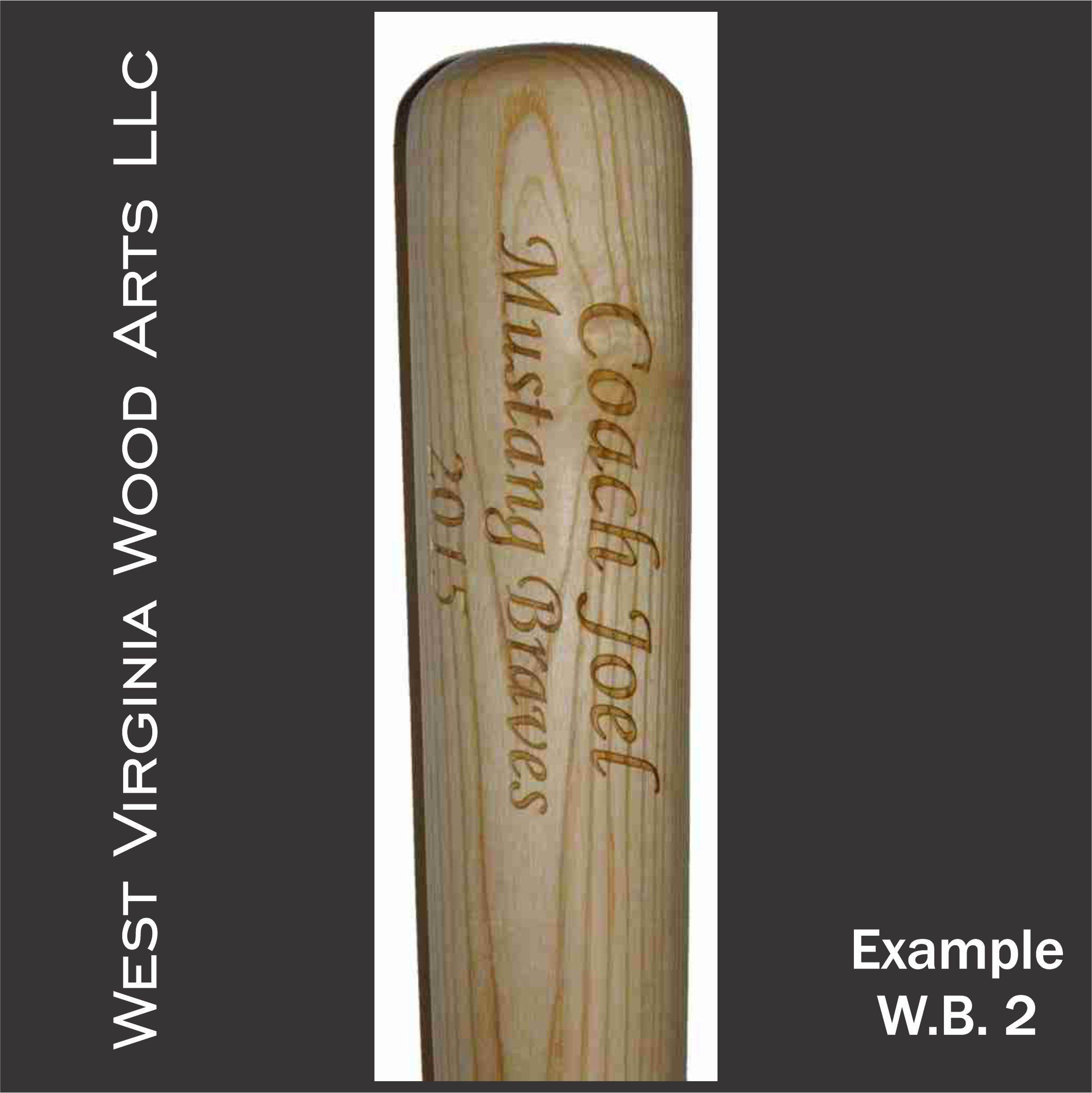 personalized full size bat with wording only main link example