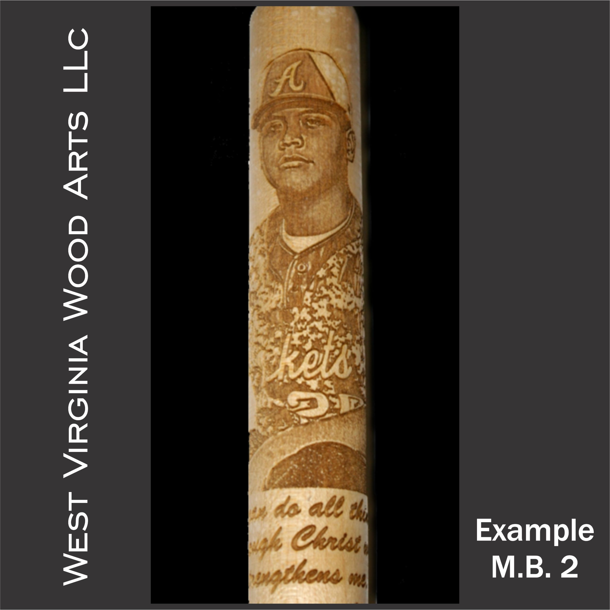 mini photo engraved maple baseball bat main link example