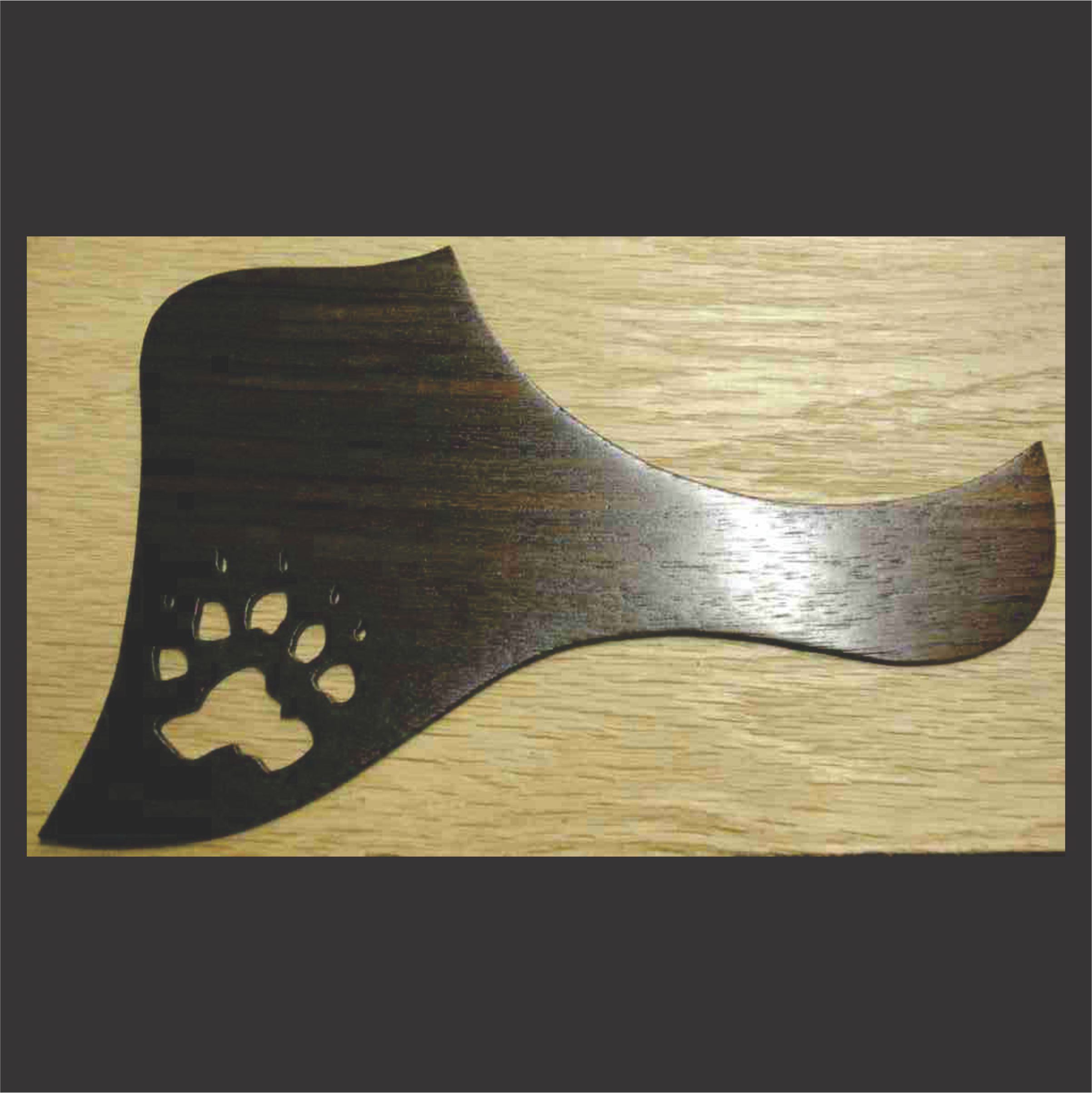 Rosewood Pickguard With Graphic Engraving And Cut Out