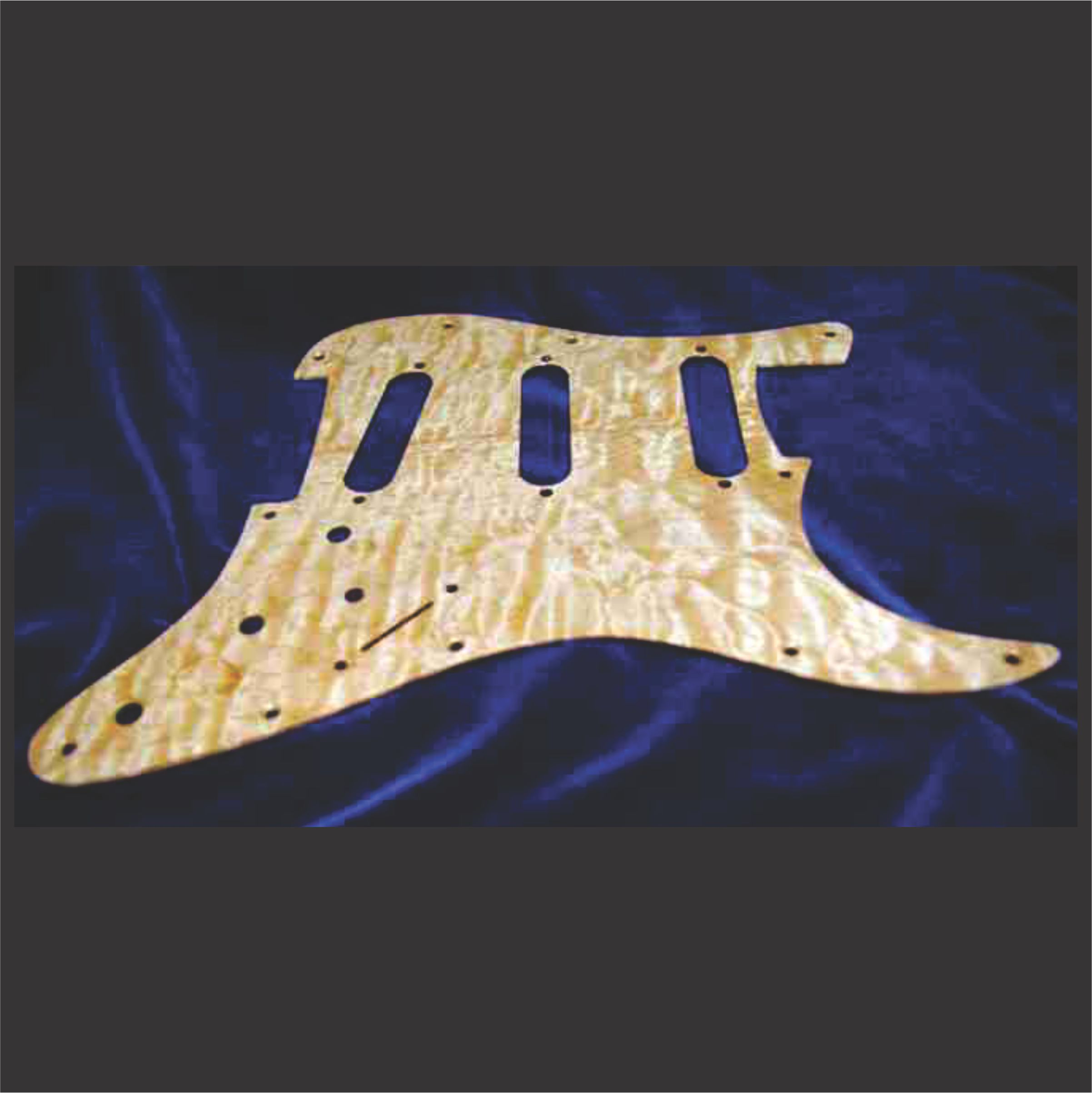 5A Quilted Maple Pickguard Without Andy Engraving