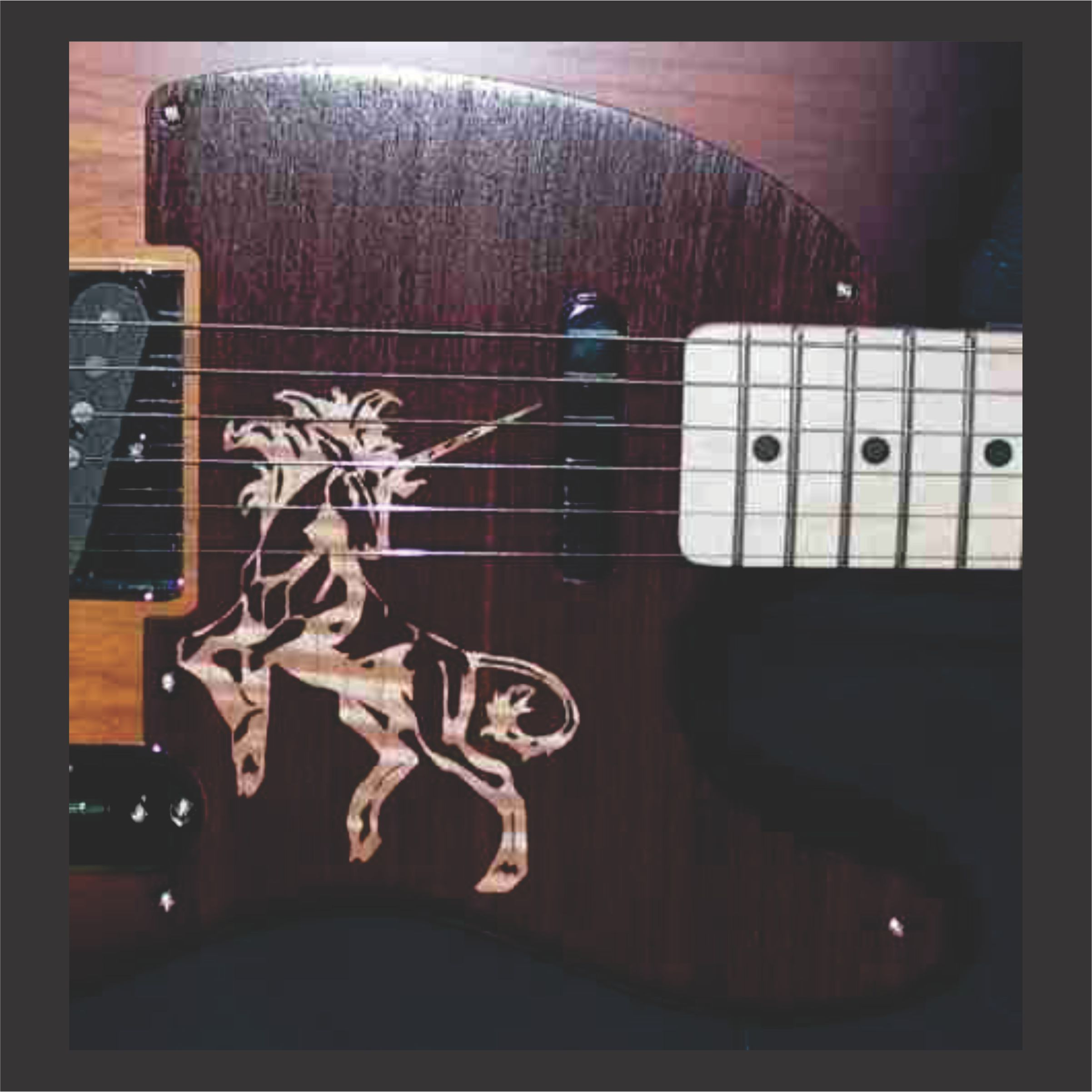 custom made guitar pickguard main link example