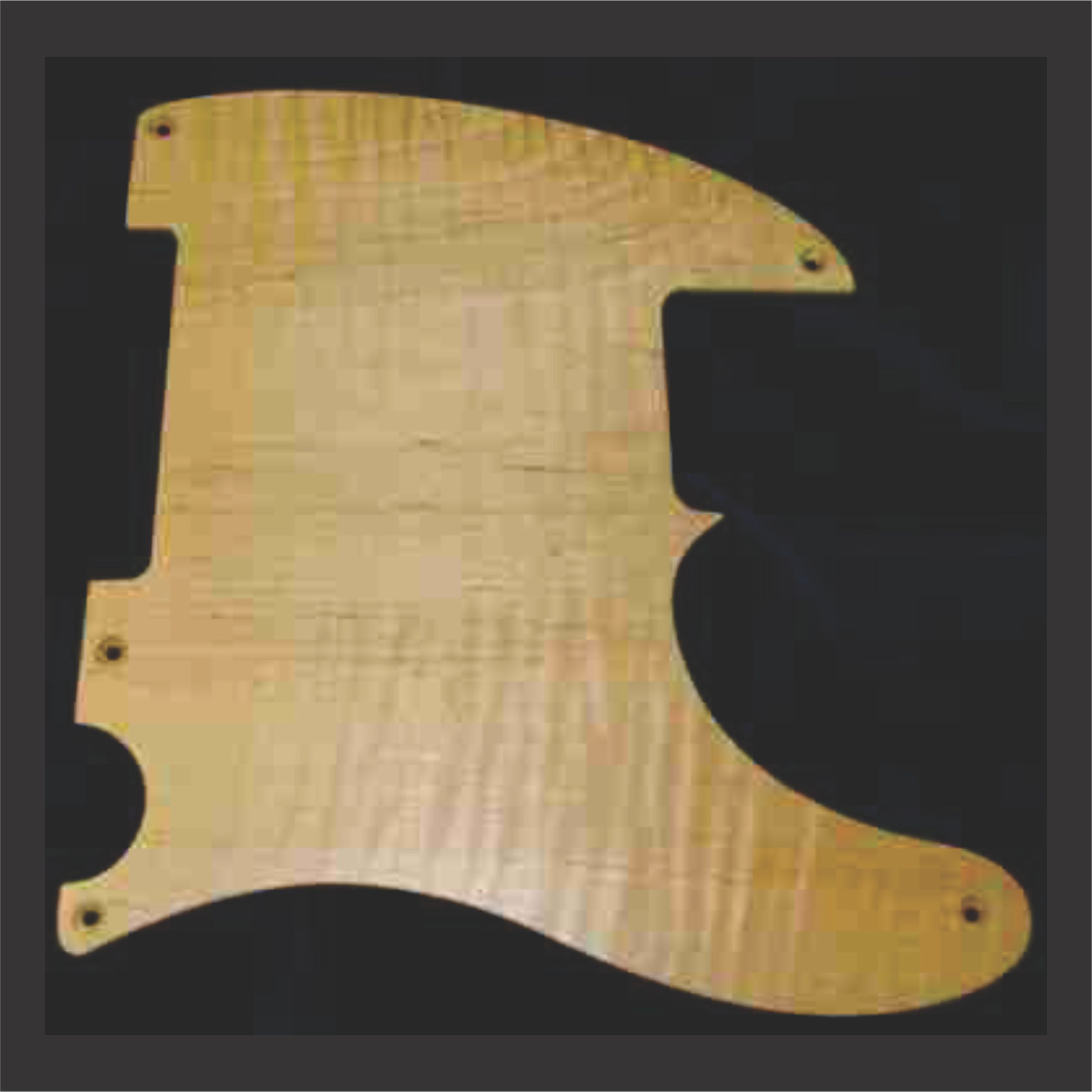Another Example Of A Flame Maple Pickguard Without Engraving