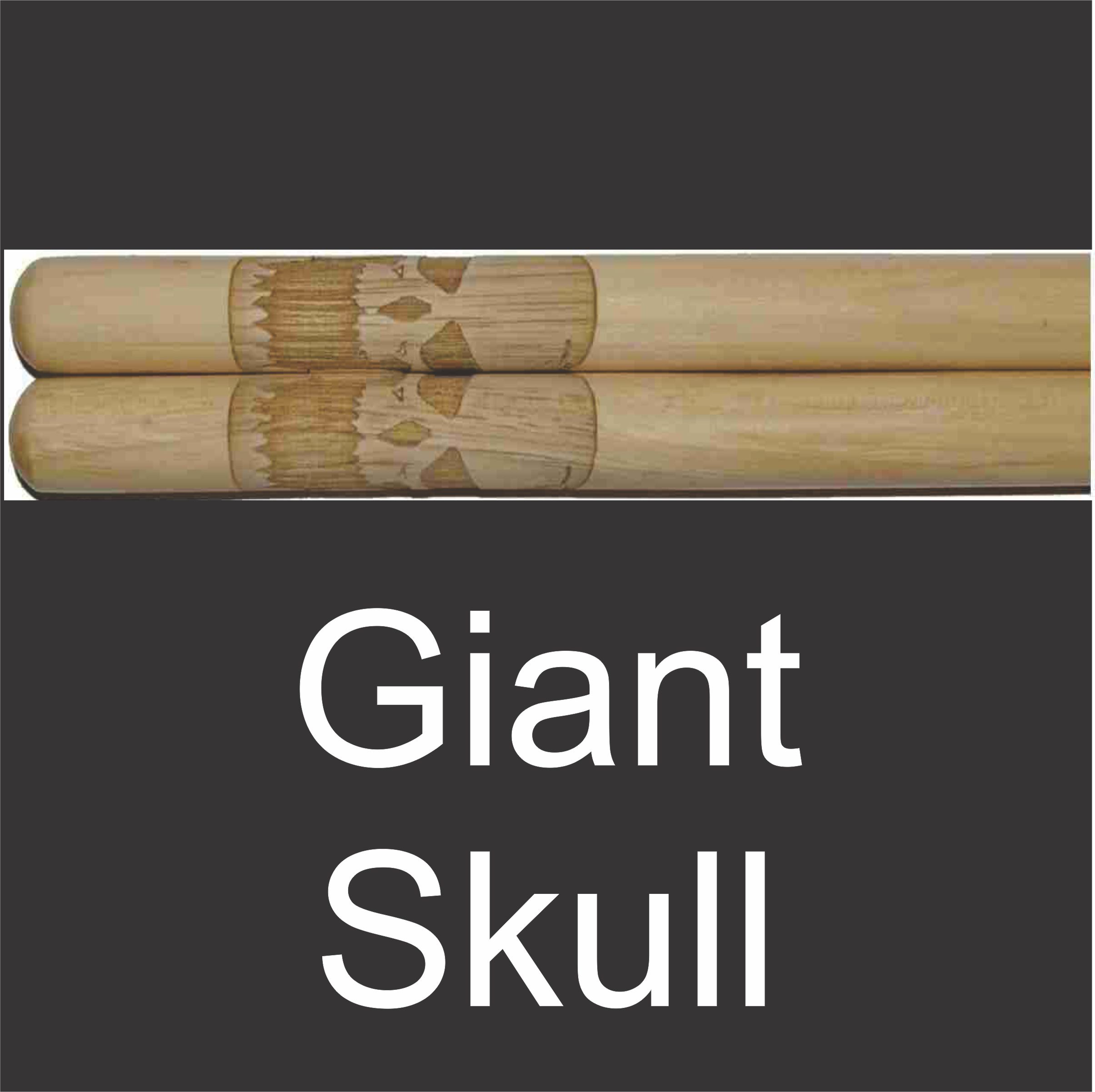 personalized drumstick set with giant skull engraving