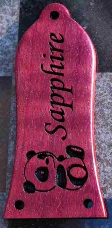 Purpleheart wood TRC with panda graphic engraving